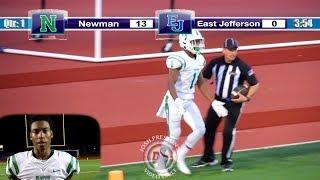 Jarmone Sutherland vs. East Jefferson - Newman 2020 WR