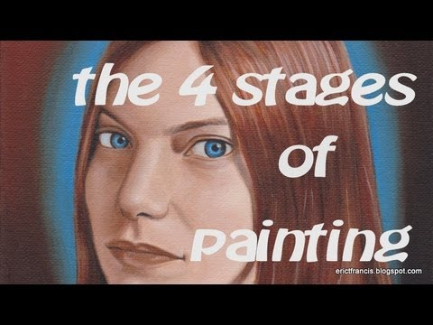 The stages of completing a painting