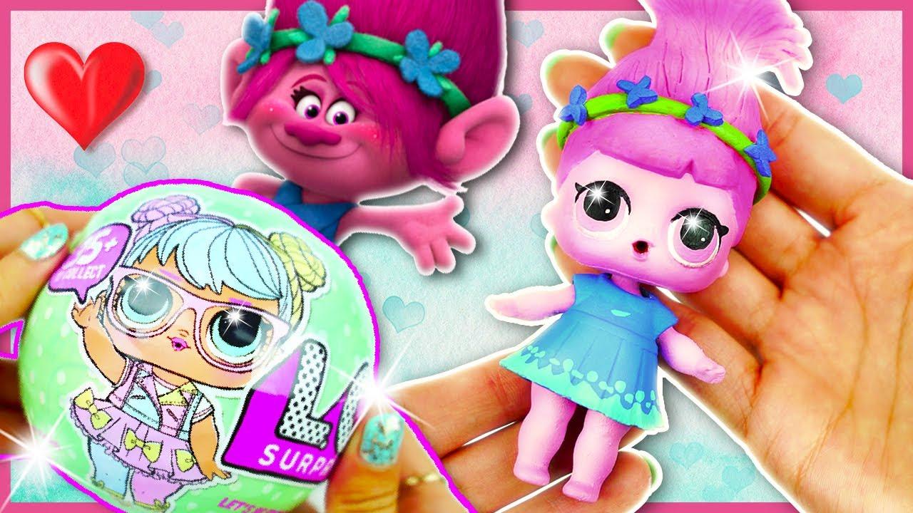 Poppy Trolls Lol Surprise Custom Doll Tutorial Lil