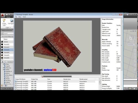 AutoCAD 3D Books Material Mapping