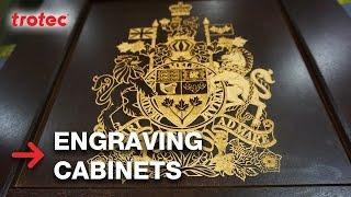 Engraving Cabinet Doors | WMS 2015