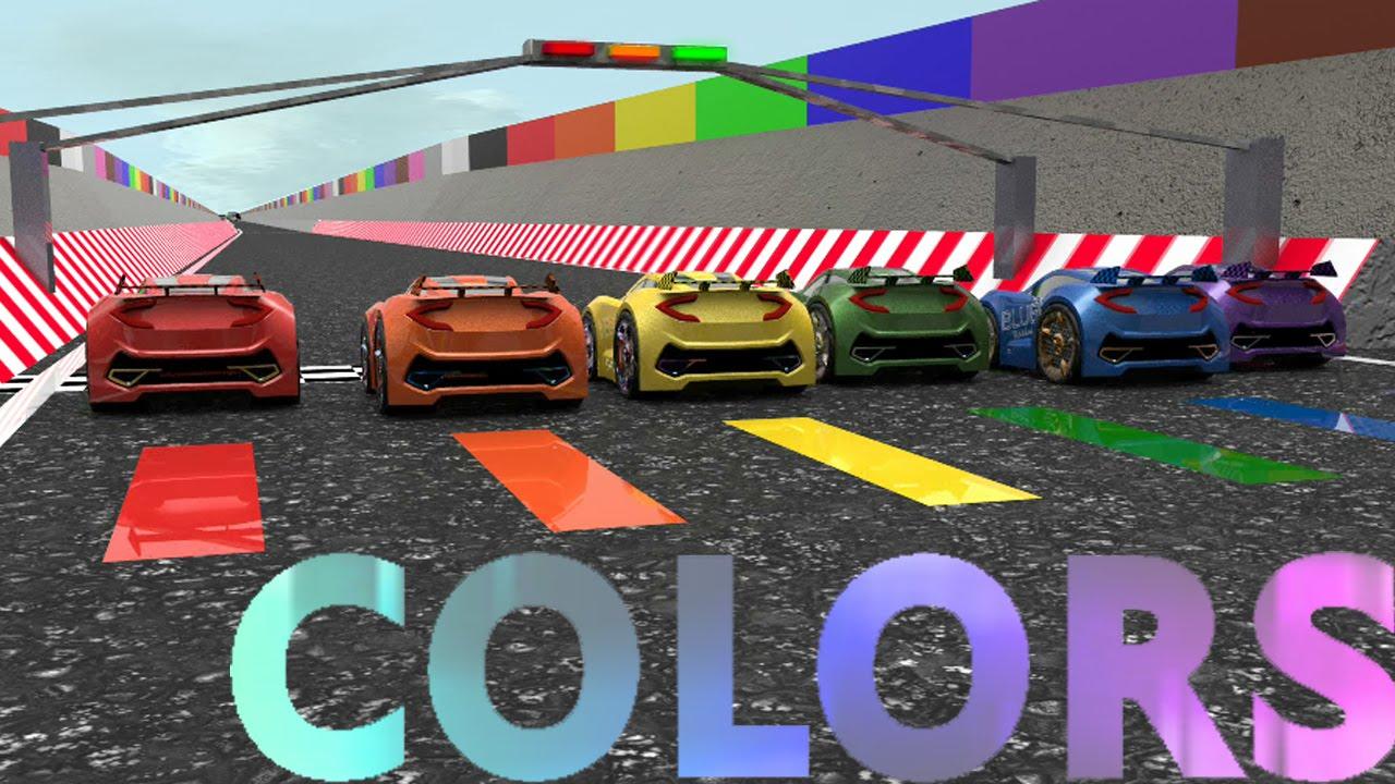 - Little Car Designer Colors Rainbow Racing - YouTube