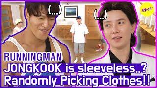 [HOT CLIPS] [RUNNINGMAN] JONGKOOK Sleeveless, and What is JIHYO wearing..?😂😂  (ENG SUB)