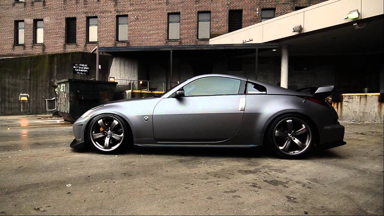 Auto Vinyl Wrap >> 350Z Nismo Vinyl Wrapped in 3m Matte Dark Grey - YouTube