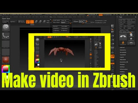 how-to-make-animation-(movies-&-export-video)-in-zbrush
