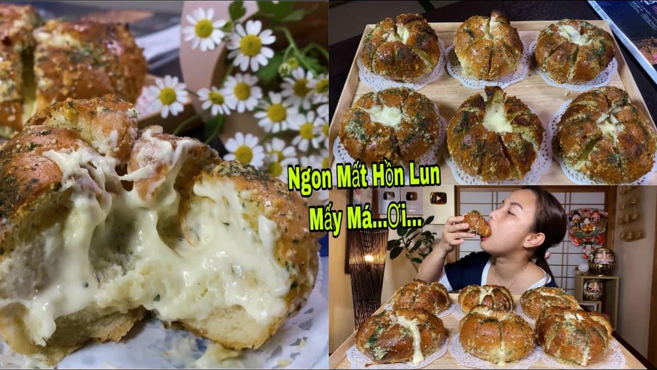 Đú Trend,Làm Thử Bánh Mì Phô Mai Bơ Tỏi Giòn Tan Nè Mấy Má Ơi…Ngon Mất Hồn Lun Đó Nha #534
