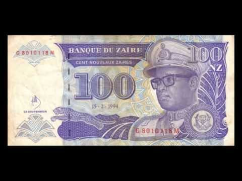 All Zairean Zaire Banknotes - 1994 to 1996 in HD