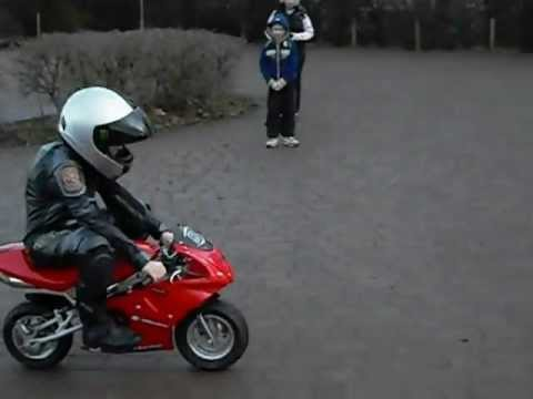 my sons first ride of his mini moto 50cc youtube. Black Bedroom Furniture Sets. Home Design Ideas