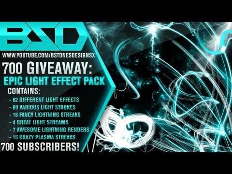BstonesDesignsX - 700 Subscriber Light Effect Pack Giveaway