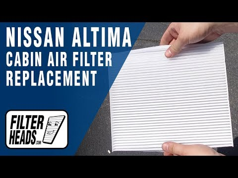 How to Replace Cabin Air Filter 2018 Nissan Altima
