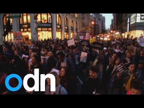Protests in New York over Freddie Gray's death in Baltimore