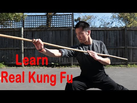 Shaolin Kung Fu Wushu Basic Bo Staff Training Session 1