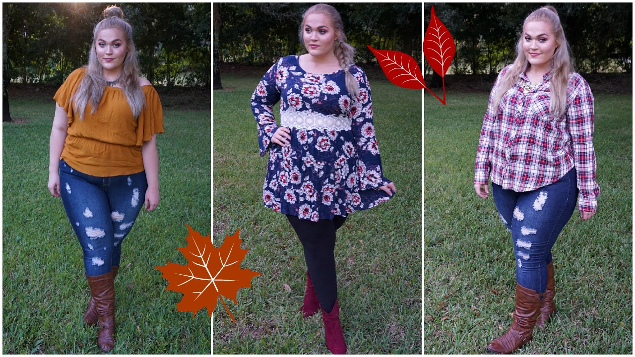 fall outfit ideas | plus size lookbook - youtube