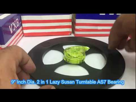 9 Inch Dia 2 In 1 Lazy Susan Turntable AS7 Bearing