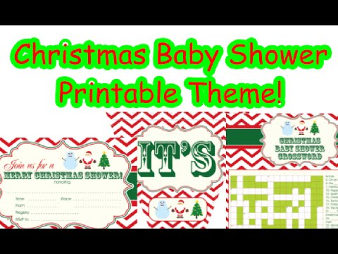Christmas Baby Shower Printable Theme YouTube