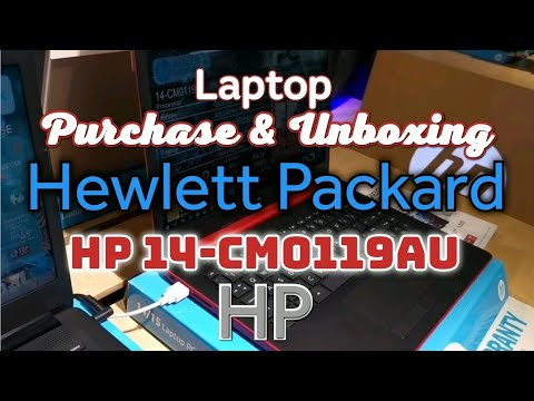 HP 14-CM0119AU Laptop Red | Hewlett Packard ~ Unboxing