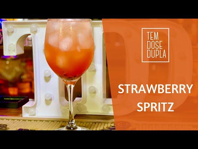 DRINK com ESPUMANTE - Strawberry Spritz