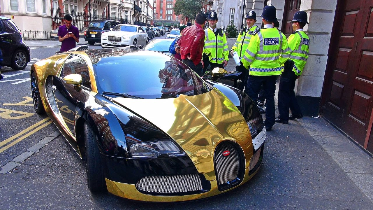 GOLD Bugatti Veyron GETS STOPPED BY POLICE !   YouTube