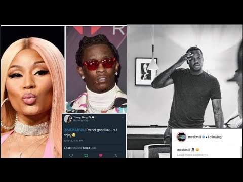 NICKI DID IT: Meek Mill Reacts To Nicki Minaj Saying He Still In Her DMs, Thug Reacts To Dresses Bar