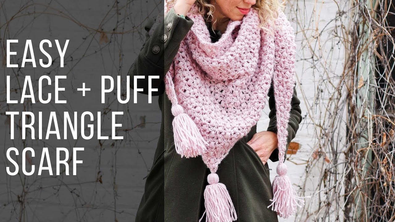 How To Crochet An Easy Puff Stitch Shawlscarf Free Pattern Youtube