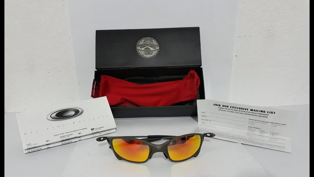 3bea8b6fb1322 Óculos Oakley Juliet Ruby Iridium X-metal top clássico demonstração para  venda