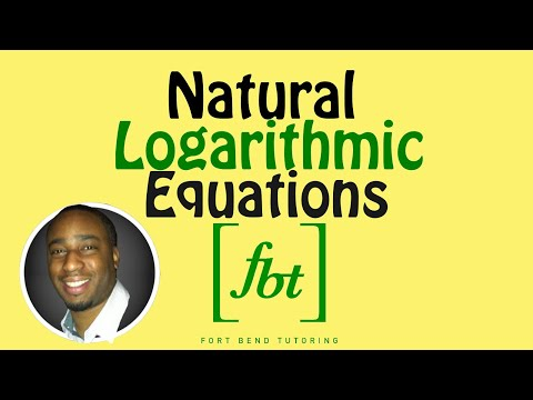 Solving Natural Logarithmic Equations [fbt] (Step-by-Step)