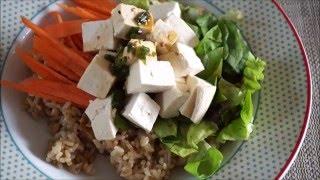 Tofu Vegetable Bibimbap: 두부 야채 비빔밥