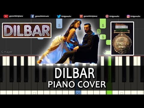 Dilbar Song Satyameva Jayate | Piano Cover Chords Instrumental By Ganesh Kini