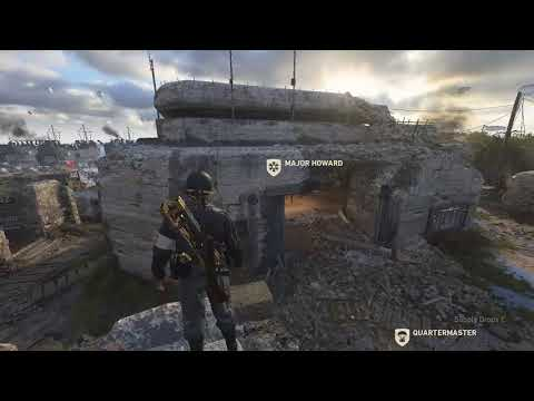 CoD: WW2  How to get on top of Major Howard's building in Headquarters!  1 of 3 ball spots too
