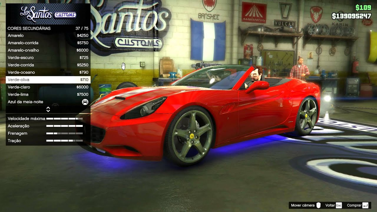 GTA V Ferrari California 2013 Mod - YouTube