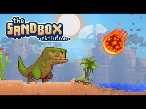 The Sandbox Evolution - Meteor Vs T-Rex! - Let's Play The Sandbox Evolution