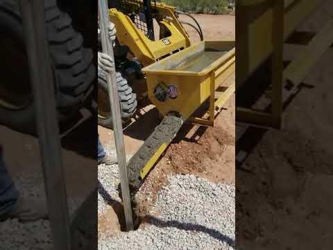 Revolvedora de concreto instalado en bobcat