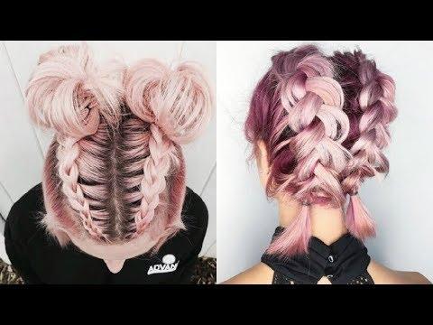 PEINADOS TUMBLR 1 peinados fciles de moda para cabello corto 2018 Cute hairstyles  YouTube