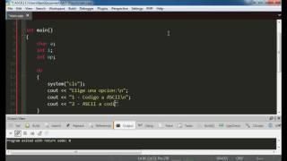 Tutorial C++ convertir ASCII