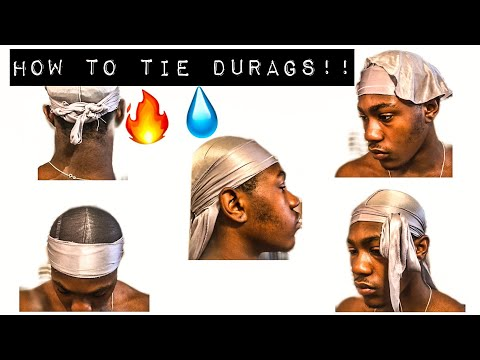 HOW TO TIE A DURAG WITHOUT LINES!!!