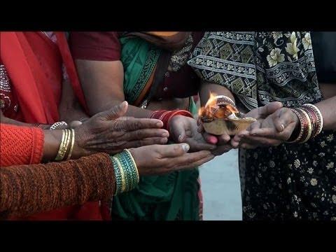 Indians celebrate Hindu holy day