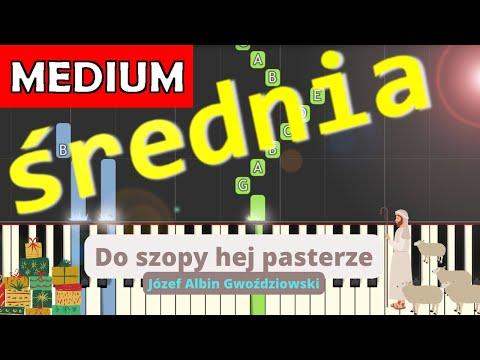 🎹 Do szopy hej pasterze - Piano Tutorial (średnia wersja) 🎹