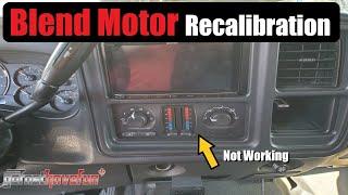 HVAC Blend Motor Actuator Recalibration Procedure for GM Trucks & SUVS   AnthonyJ350