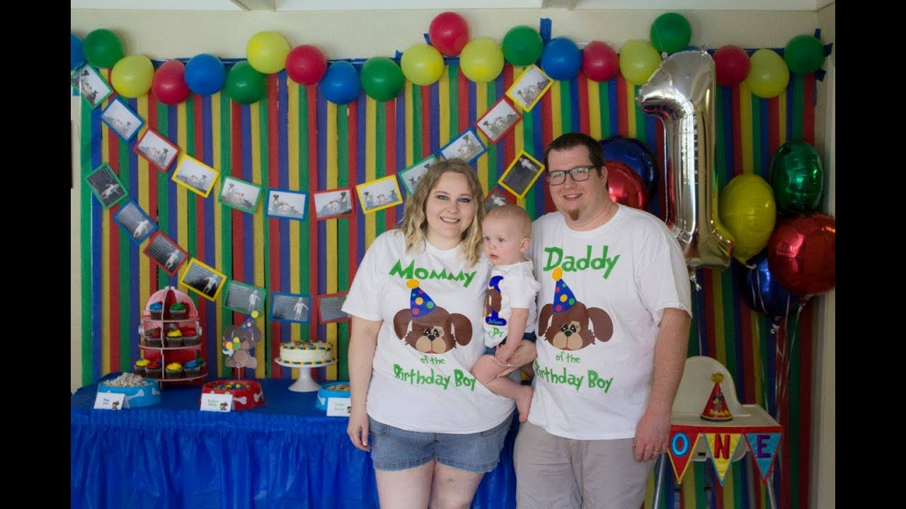 Jacksons 1st Birthday Paw Ty Puppy Themed Swim Party