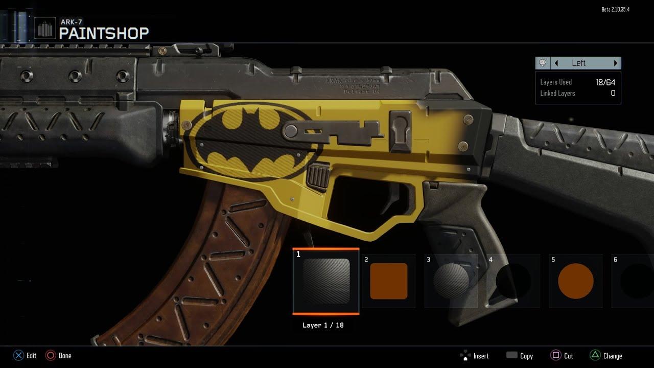 First look black ops 3 paint shop batman logo tutorial youtube - Chp call log paint ...