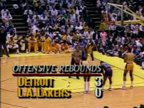 1988 NBA Finals: Pistons at Lakers, Gm 7 part 3/12