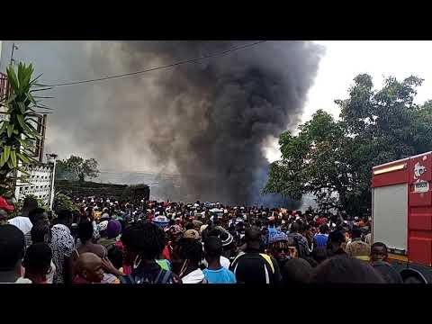 FIRE IN CENTRAL MONROVIA   MONROVIA CITY, LIBERIA AFRICA