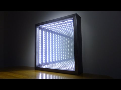 infinity mirror. Black Bedroom Furniture Sets. Home Design Ideas