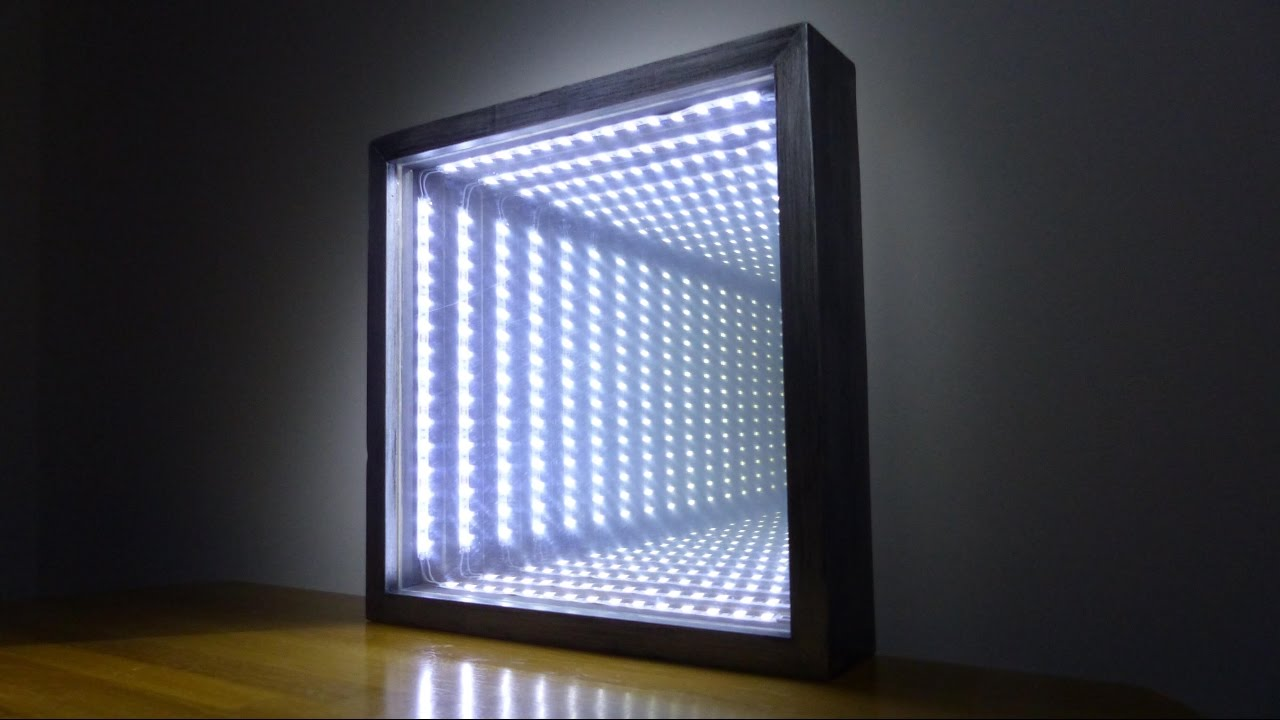 How to make an led infinity illusion mirror youtube for Mirror video