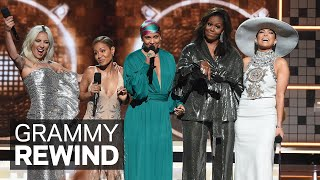 Michelle Obama, Lady Gaga, Alicia Keys, J. Lo & Jada Pinkett Smith Open 2019 GRAMMYs | GRAMMY Rewind