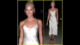 Karlie Kloss Parties in Chic Silver Dress in WeHo