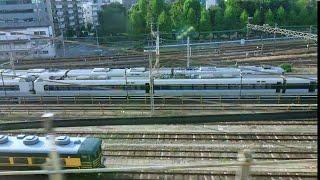 『車窓』山陽新幹線こだま号レールスターからの宮原機関区チラ見