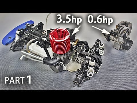 Part 1- Restoring My Old Nitro R/C Car and Installing A *HUGE* Engine on it