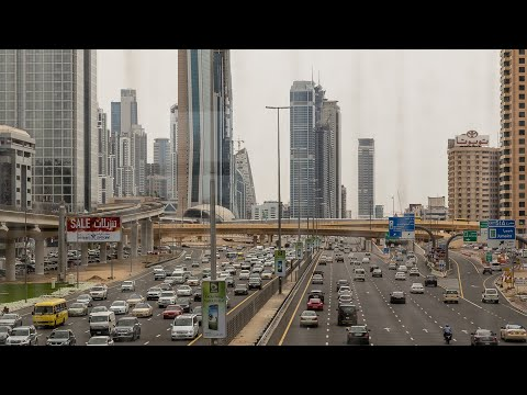 Dubai Skyline view from Sheikh Zayed Road - Dubai Downtown  2018 ( #VisitDubai )