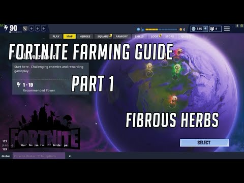 Fortnite STW - How To Farm Fibrous Herbs Effiicently